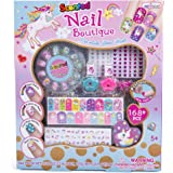 Hot Focus Scented Nail Boutique – 168 Piece Unicorn Nail Art Kit Includes Press on Nails, Nail Patches, Nail Stickers, Nail Polishes, Nail File and Ring – Non-Toxic Water Based Peel Off Nail Polish