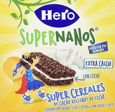 Hero Supernanos Barritas Leche Choco - Paquete de 4 x 30 gr - Total: 120