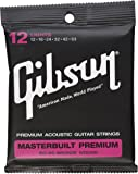 Gibson Masterbuilt Premium 80/20 Bronze Acoustic Guitar Stings, Light