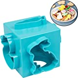 Easter Cookie Cutter Cube- Holiday Cookie Press Set w 6 Unique Spring Shapes- All in One 6-Sided Design Means No More Clutter