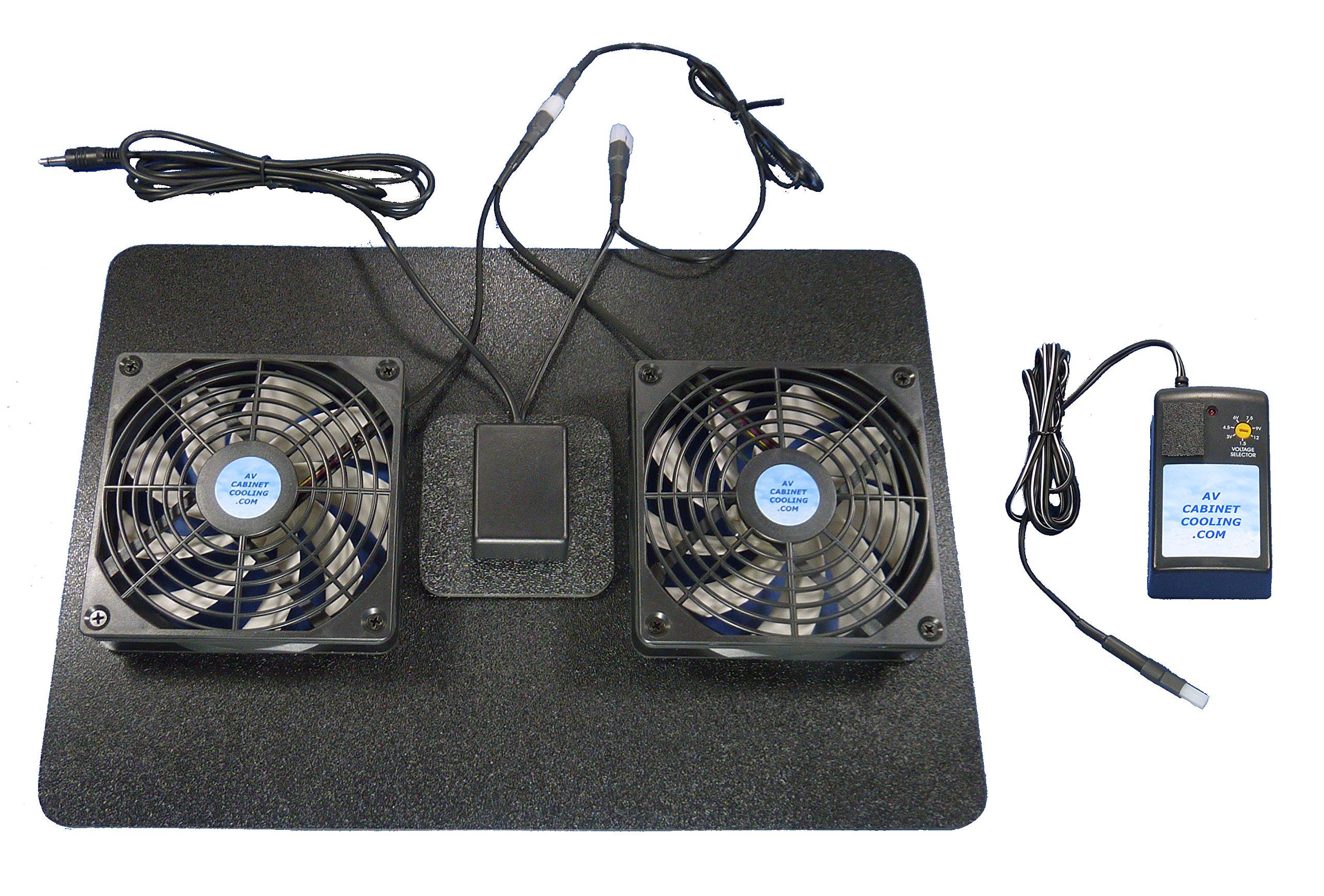 Receiver/Amp Megabase 12 volt trigger-controlled cooling fans / multispeed control / 12v