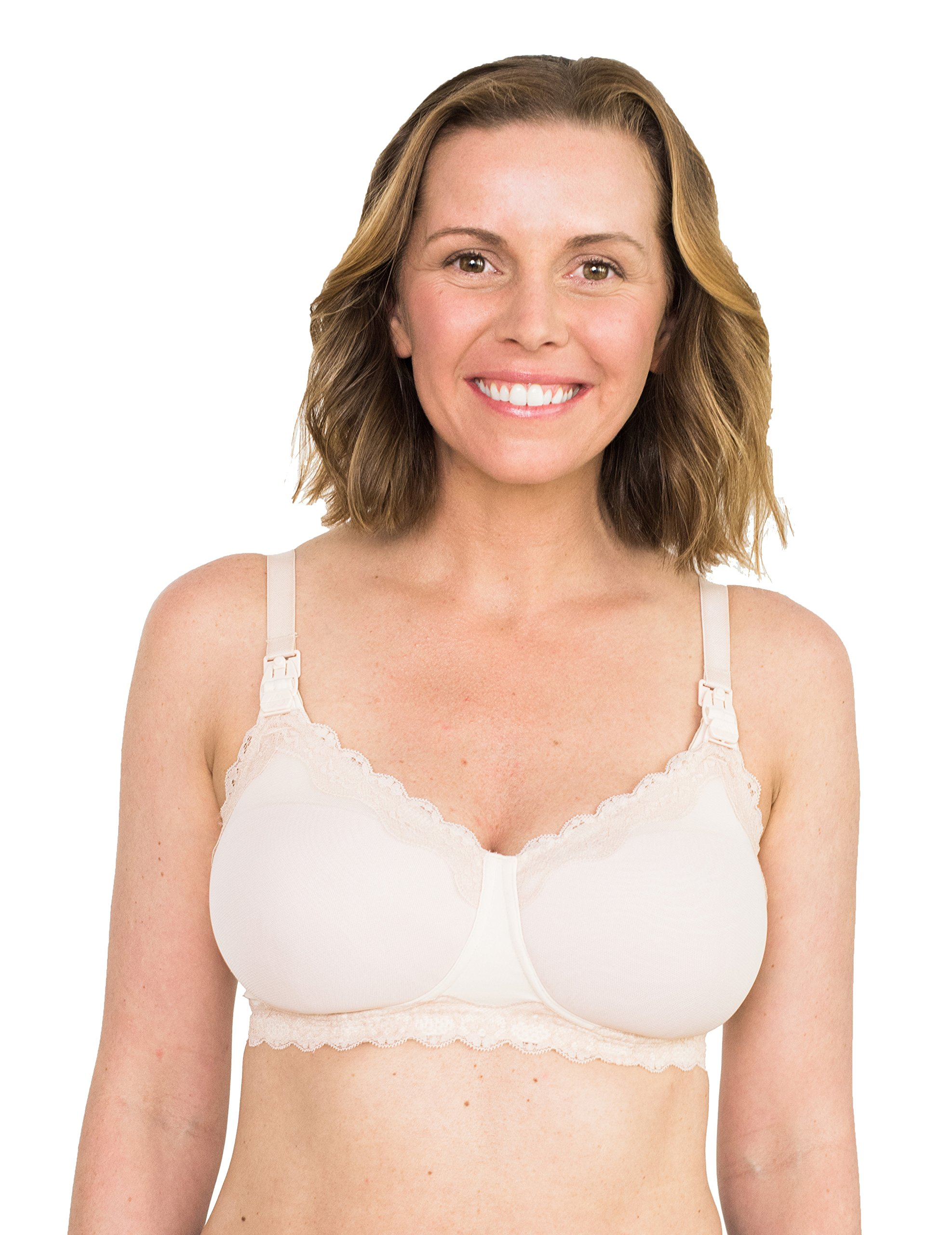 Simple Wishes SuperMom All-in-One Nursing and Pumping Bra, Patent Pending, Blush, 36DD