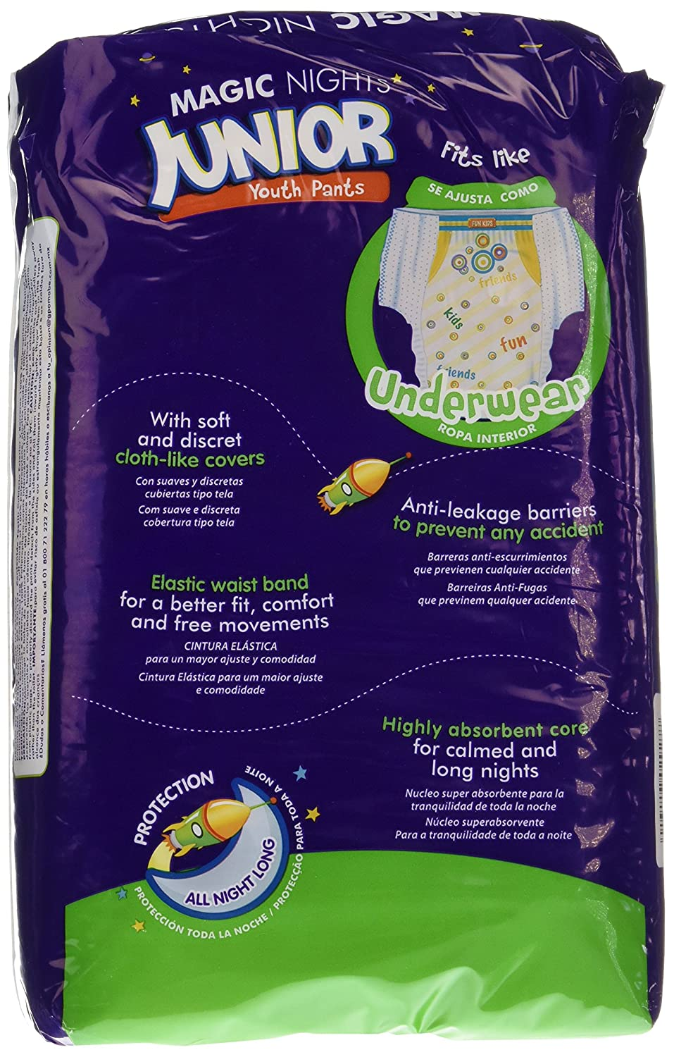 Moltex Magic Nights Youth Pants Bolsa de Braguitas de Noche - 12 Braguitas - [pack de 2]: Amazon.es: Salud y cuidado personal