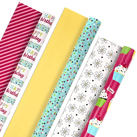 Amazon.com: Hallmark - Papel de regalo reversible para ...
