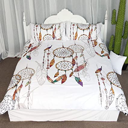 Amazon Boho Dreamcatcher Feathers Duvet Cover Set 40 Pieces Interesting Dream Catcher Over Bed