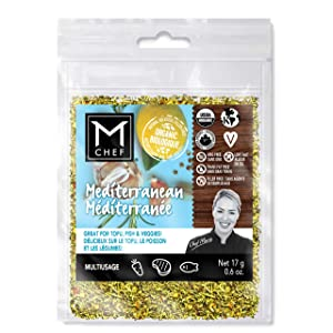Organic Mediterranean MCHEF Spices (Aromatic Lemon Herbal Blend for marinades, grilling and cooking: Meat, fish, seafood, tofu, potatoes, rice, vegetables, pasta, pizza and more!)
