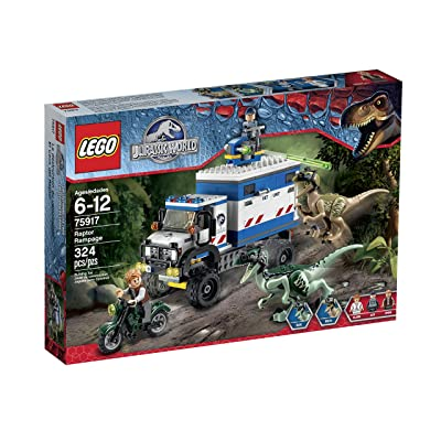 Lego Jurassic World Raptor Rampage 75917 Building Kit: Toys & Games