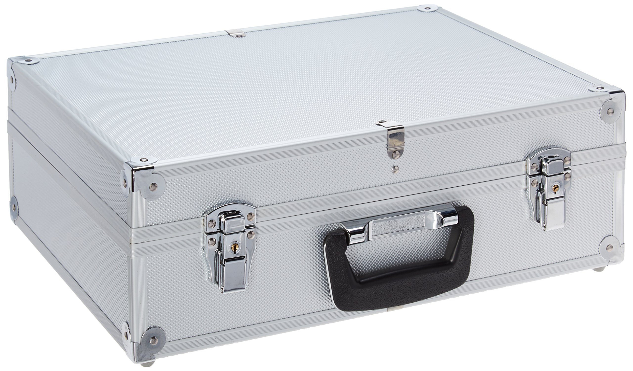 T.Z. Case International Case with Removable Tool Pallet and Two Key Lock Latches, Silver Dot