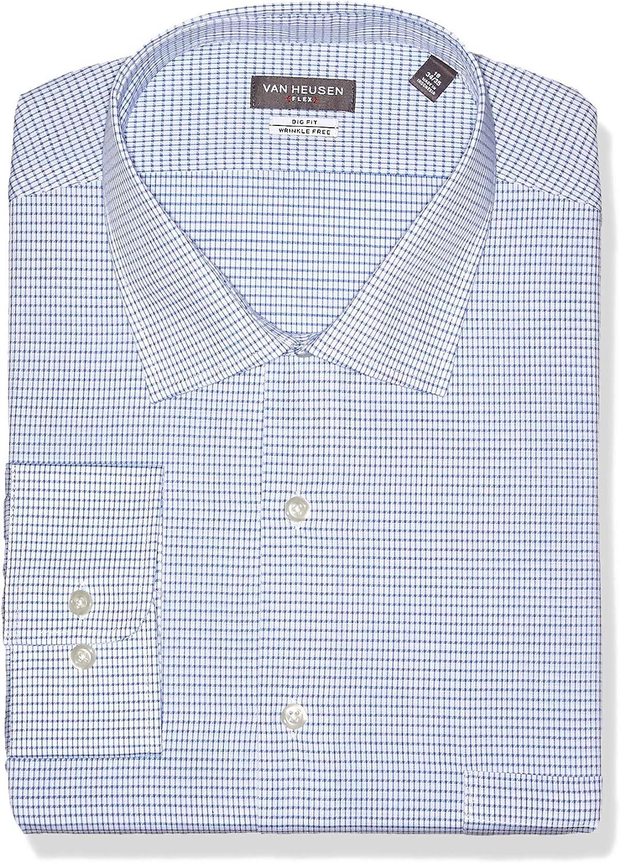 Van Heusen Hombre 127994 Cuello Tipo Italiano Manga Larga Camisa de Vestir: Amazon.es: Ropa y accesorios