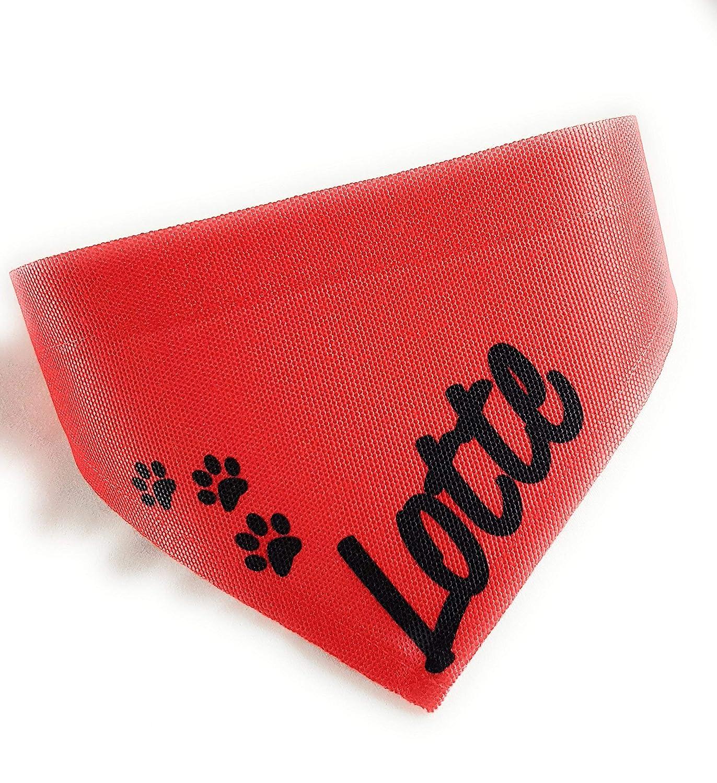 Hundehalstuch I Katzenhalstuch I Hunde und Katzen Halstuch mit Wunsch Name oder Wunschtext