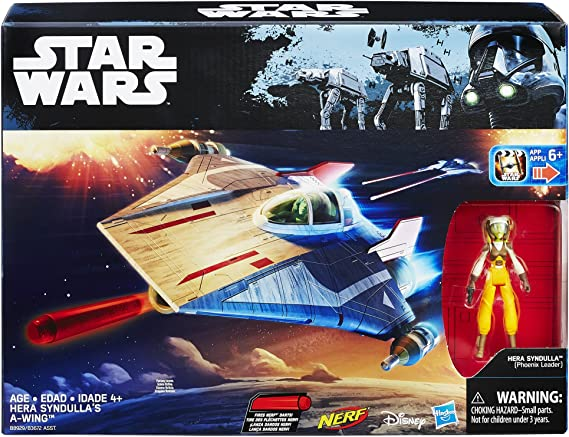 STAR Wars Rebels Hera syndulla A-Wing Flyer Nerf Disney Hasbro Sigillato in Fabbrica