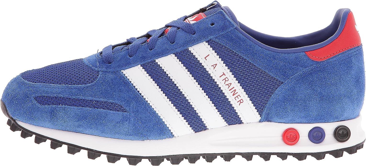 billig adidas La Trainer, Herren Sneaker, Blau BlauWeißRot