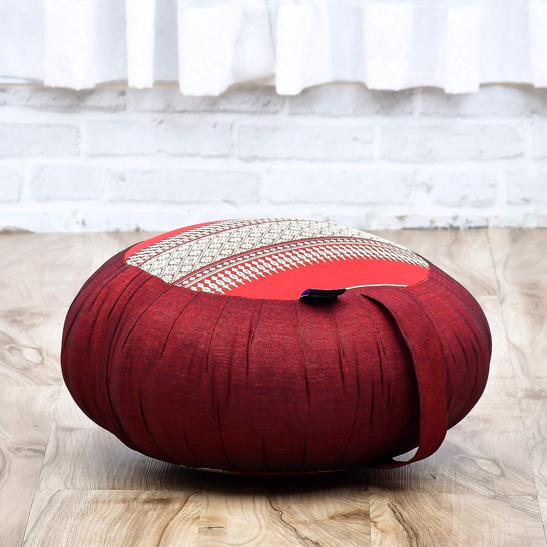 Round Zafu Pillow and Large Square Zabuton Mat For Floor Seating Eco-Friendly Organic and Natural Leewadee Meditation Cushion Set Kapok