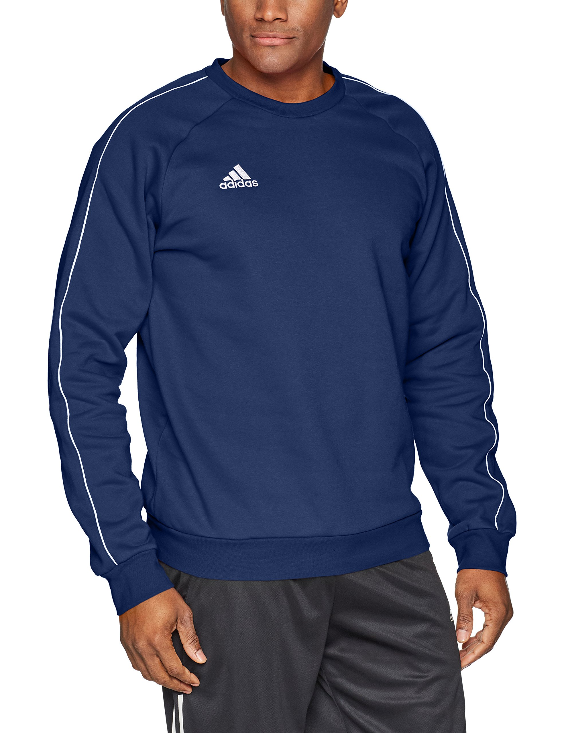 adidas Men's Core 18 Soccer Sweatshirt, Dark Blue/White, XX-Large by adidas