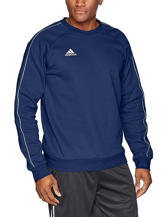 adidas Men's Core 18 Soccer Sweatshirt, Dark Blue/White, Large best men's sweatshirt