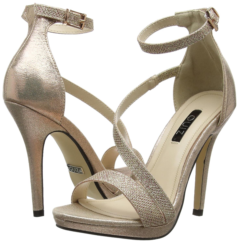 Quiz Ladies Heels Shoes, Gold colour
