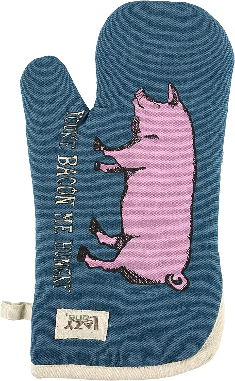 Bed Hog Durable Canvas Cottons Oven Mits by LazyOne   Cabin, Home and Kitchen Animal Gifts (ONE Size)