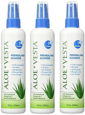 Aloe Vesta Perineal/Skin Cleanser 1 Count, 4 oz, Lemon Scent 4 Pack Shea Butter Now Foods 16 oz Cream
