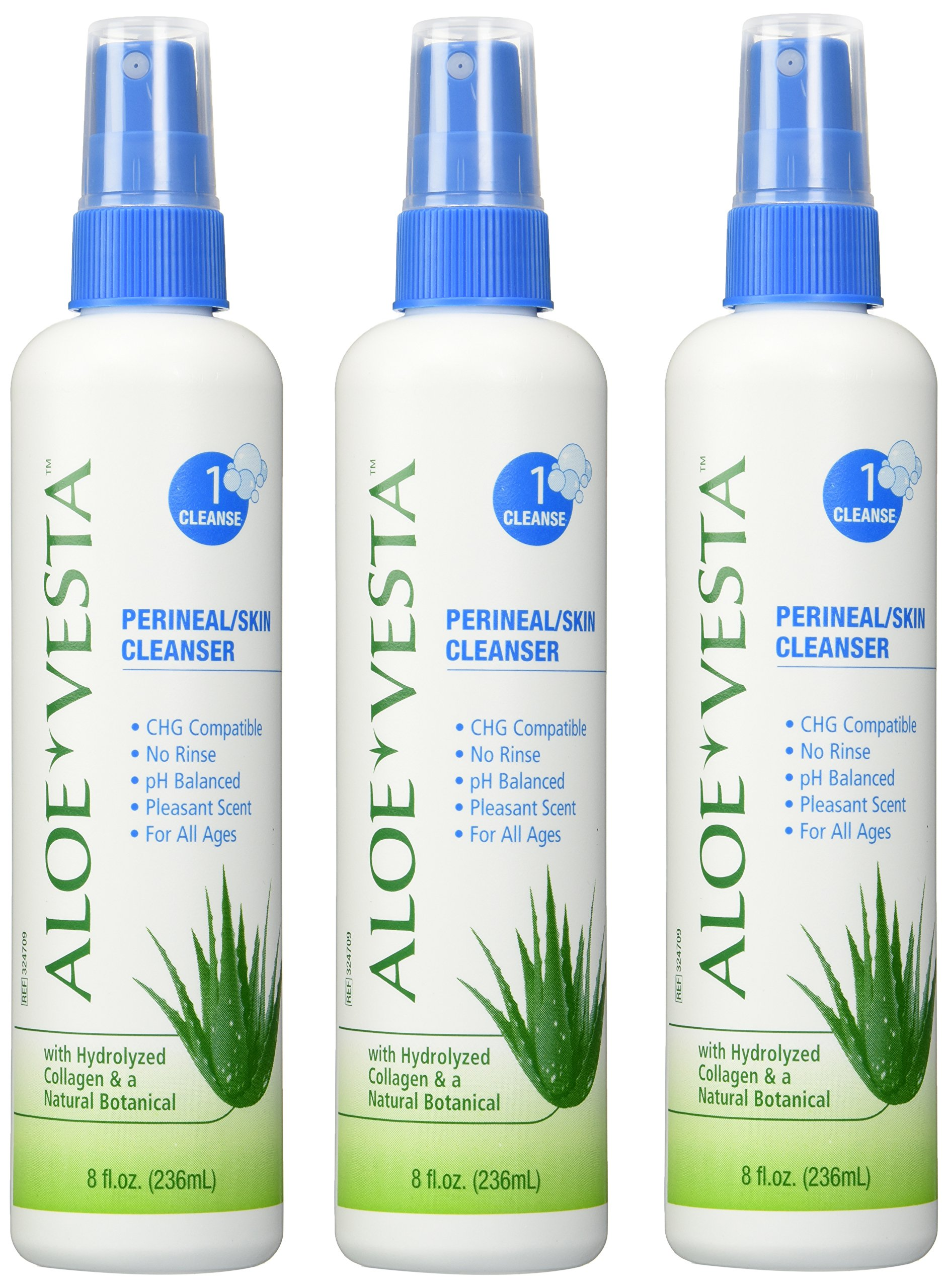 Aloe Vesta® Perineal/Skin Cleanser, 8 oz Bottle - Pack of 3
