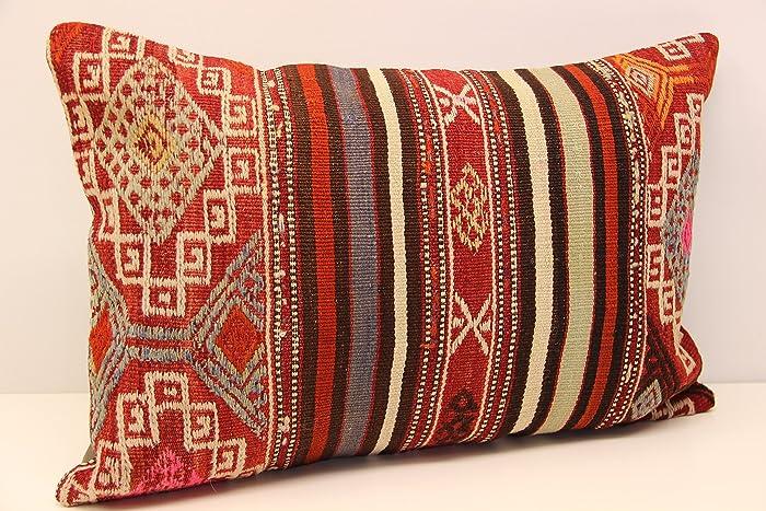 Turkish Lumbar Pillow Cover Tulu Pillow Cover 16x42 Pillow Cover,Kilim Pillow,Kilim Cushion,Turkey Pillow,Kilim Cushion Case SP40107 85