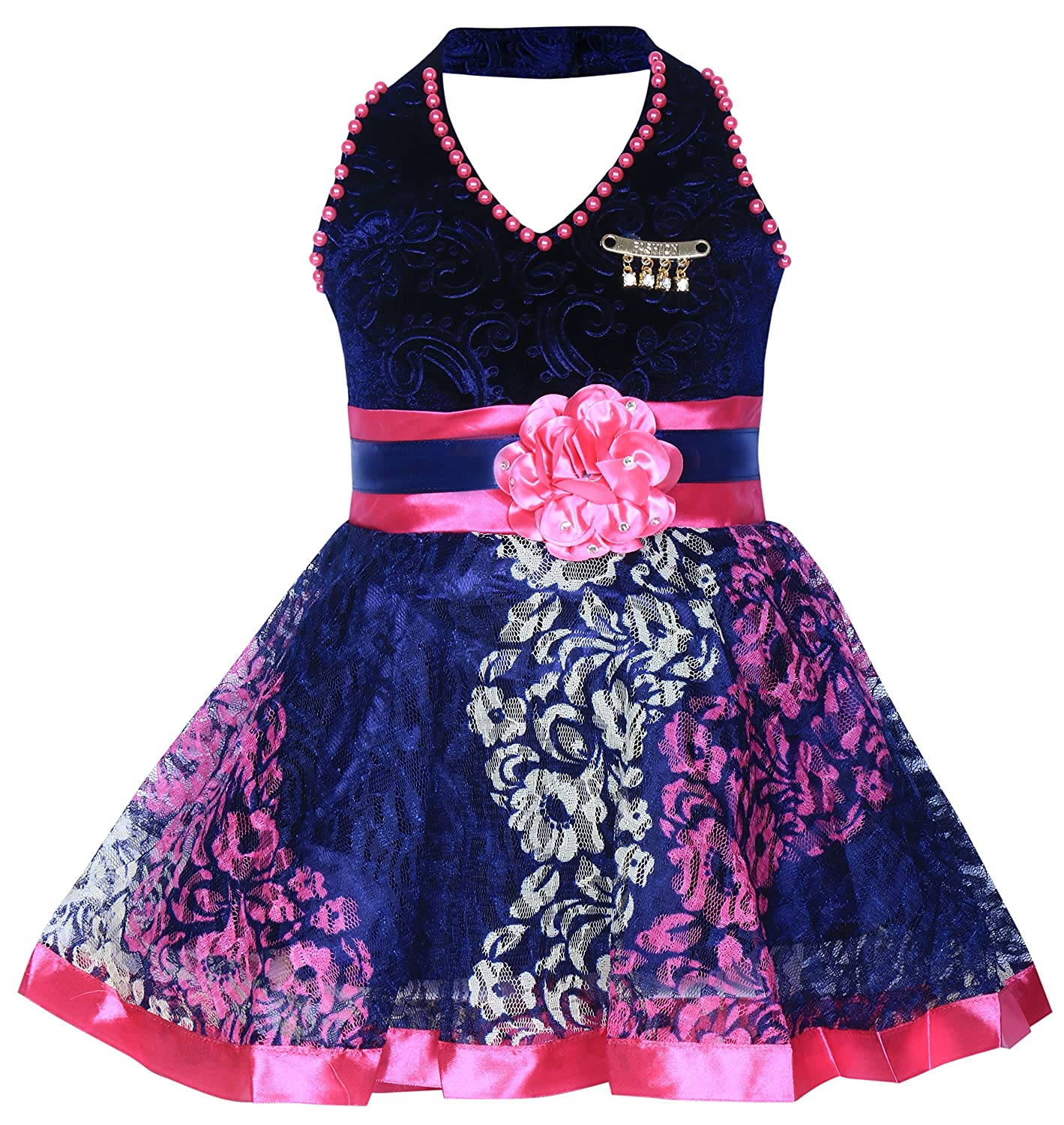 9805e9df0 MPC Cute Fashion Kids Girls Baby Dress for Princess Velvet and Soft Net  Frock Dress for