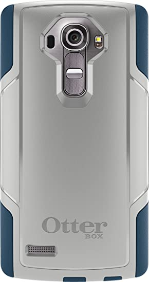new arrival 4e9b1 b50ab Otterbox Cell Phone Case for LG G4 - Retail Packaging - Sleet Grey/Dark  Deep Water Blue