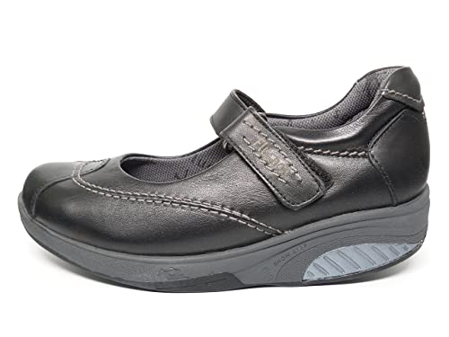 Mujer Cierre Zapatos Fluchos Tipo Velcro Mercedes Balancín Cómodos w1EqX