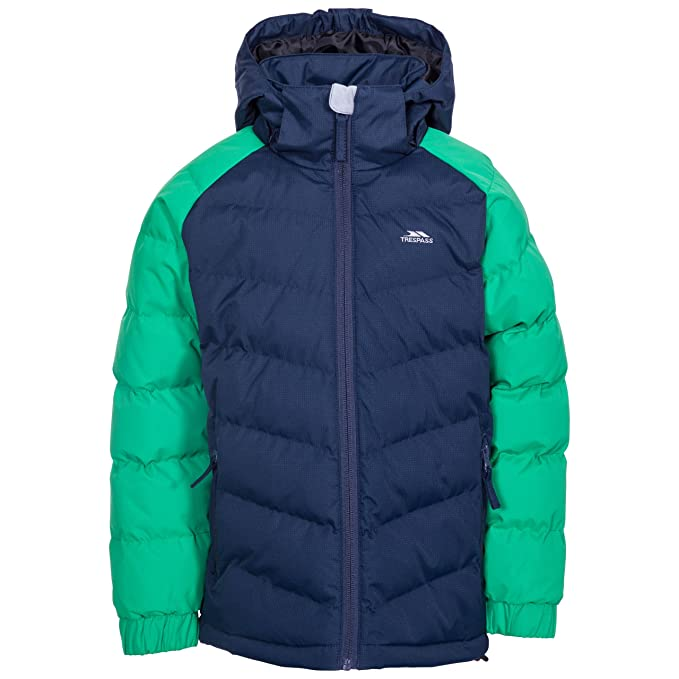 310a046bd5 Trespass Sidespin Boys  Windproof Insulated Padded Jacket  Amazon.co.uk   Clothing