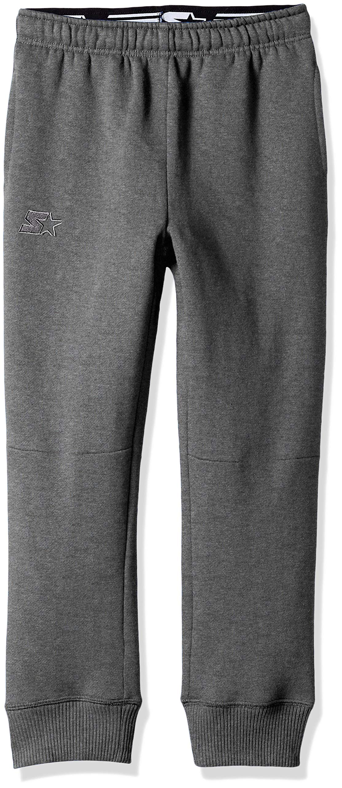 Starter Boys' Jogger Sweatpants with Pockets, Amazon Exclusive, Iron Grey Heather with Embroidered Logo, M (8/10)