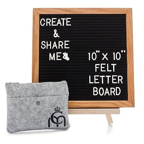 message board changeable felt letter board wooden black felt oak frame 10x10 364