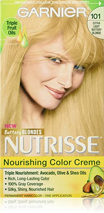 Amazon.com: Garnier Nutrisse Nourishing Hair Color Creme, 101 ...