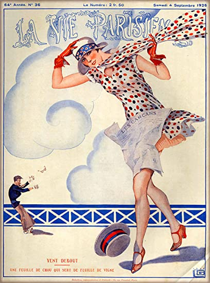 Amazon.com: A SLICE IN TIME 1926 La Vie Parisienne Renouveau ...