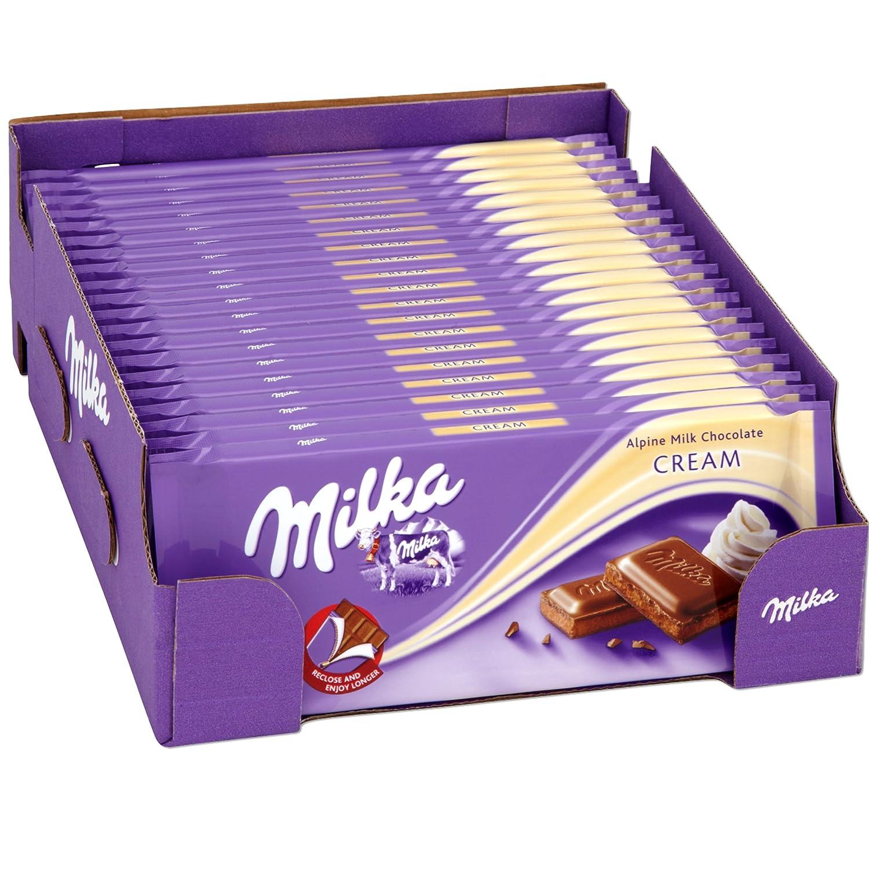 Milka Chocolate Cream 100g (Box of 20): Amazon.co.uk: Grocery