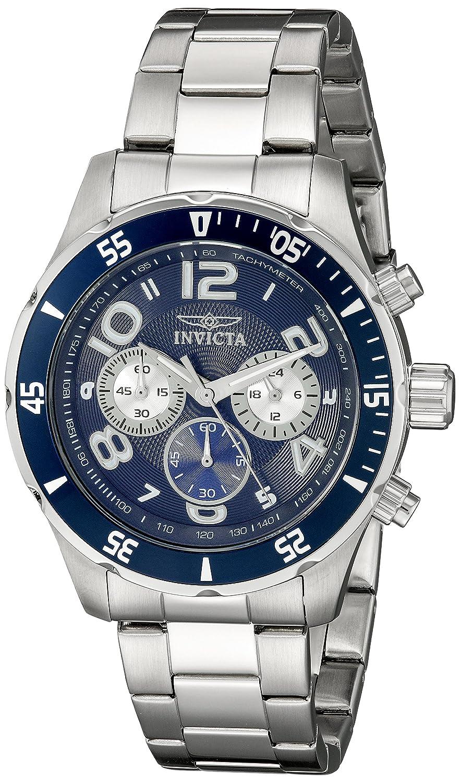 Invicta Men s 12911 Pro Diver Chronograph Dark Blue Textured Dial Stainless Steel Watch