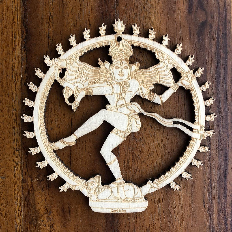 "ZenVizion 5.31"" Sacred Geometry Soul Reminders Wall Art Home Decor Hanging (Nataraja Dancing Lord Shiva)"