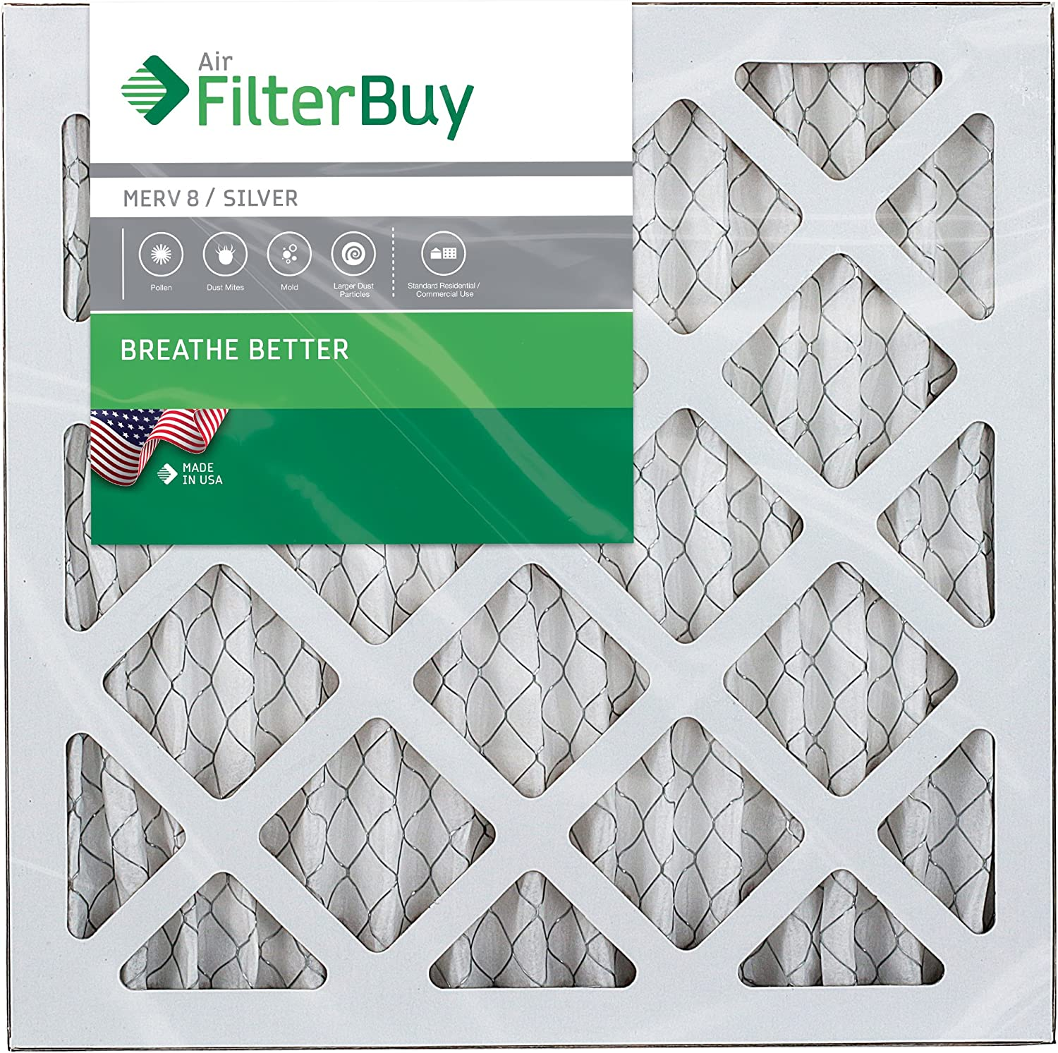 Min 18x24x1 Polyester Air Filter 12 pieces MERV 7 Qty 12