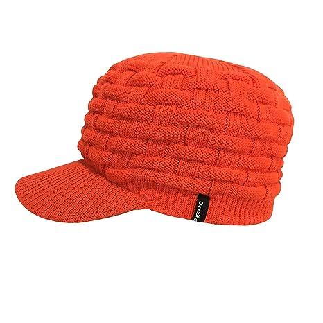 82849fd85a4 Amazon.com   DexShell Waterproof Orange Peaked Beanie Hat (for ...