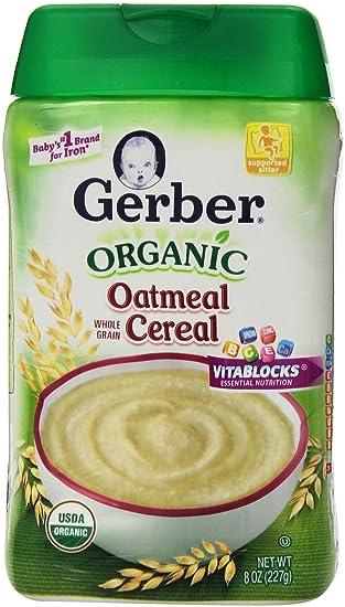 Cereal de avena orgánica, grano entero, a 8 oz (227 g) -