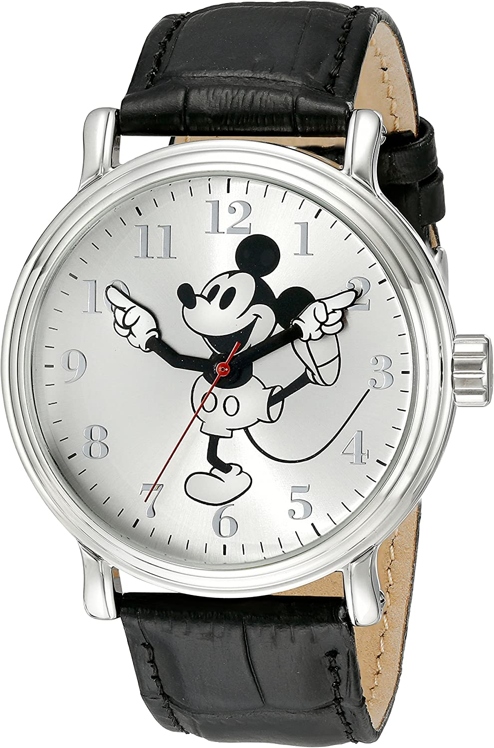 Disney Men s W001862 Mickey Mouse Analog Display Analog Quartz Black Watch