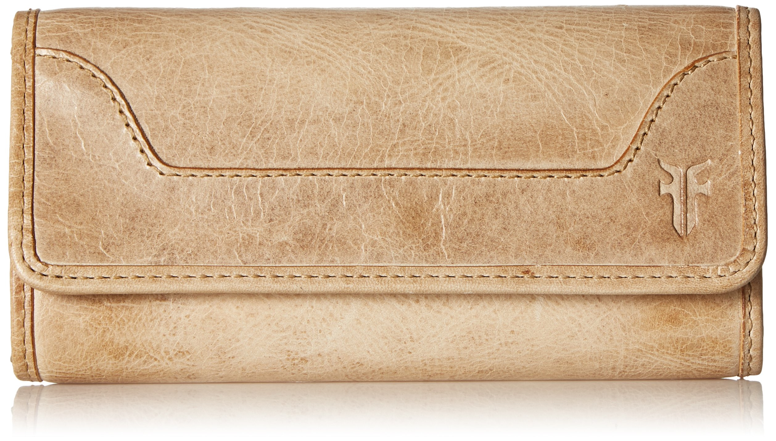 Melissa Continental Snap Leather Wallet Wallet, Sand, One Size
