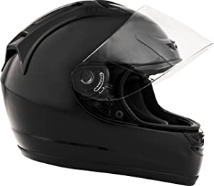 Fuel Helmets SH-FF0015 Full Face Helmet, Gloss Black, Medium