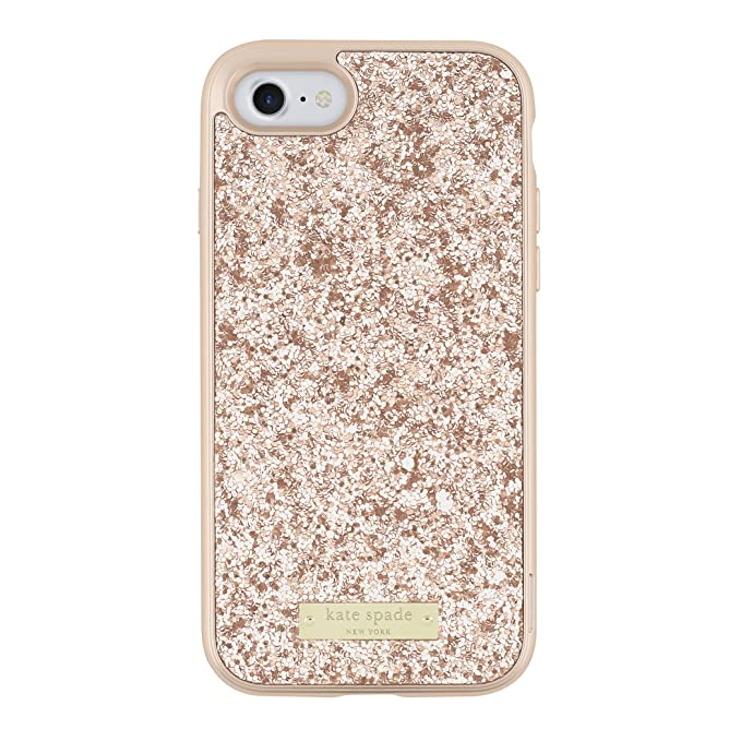 Amazon.com  kate spade new york Wrap Case for iPhone 7 - Rose Gold ... 21dade6026