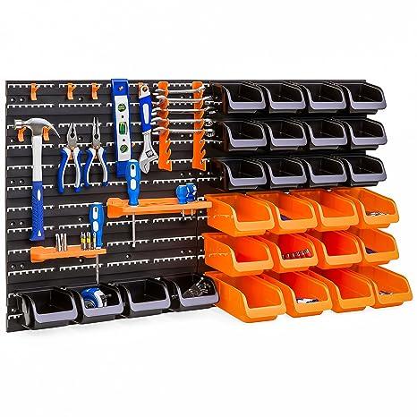 Best Choice Products 44-Piece Wall Mounted Garage Storage Organizer Rack  sc 1 st  Amazon.com & Best Choice Products 44-Piece Wall Mounted Garage Storage Organizer ...