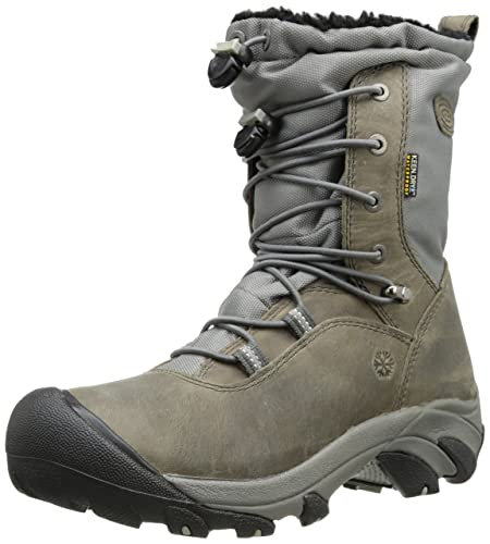 df296c90fbd KEEN Wilma Lace Bottes Chaussures pour Femme Outdoor Loisirs Gris - Gris -  Magnet Neutral
