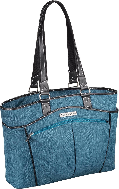 "Clark & Mayfield Reed Laptop Handbag 17.3"" (Teal Blue)"