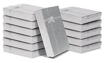 6898f57eb3a80 Pack de 12 Cajas para Joyas Anillo Collar con Inserto de Terciopelo por  Kurtzy - Cajas de ...
