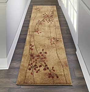 "Nourison Somerset Latte Brown Area Rug, 2'3"" x 8'"