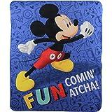 "Mickey Mouse""Fun"" Kids Character Lightweight Fleece Throw Blanket"