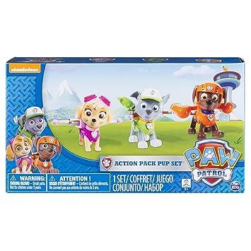 Paw Patrol Action Pack Pups Figure Set 3pk Skye Zuma Rocky