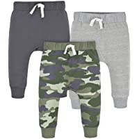 Gerber Baby Boys' Toddler 3-Pack Jogger Pants